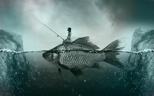 žena a ryba