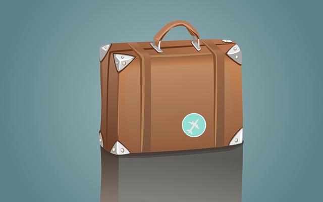 hnědý kufr