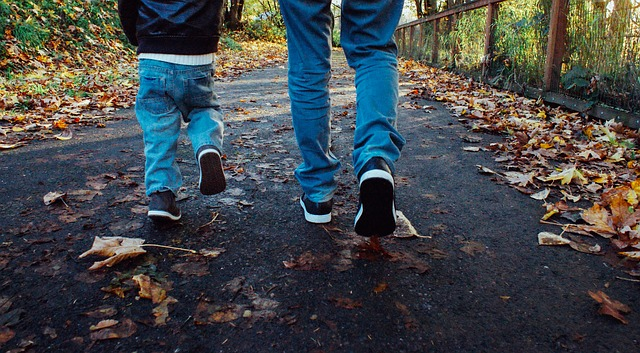 procházka s prckem