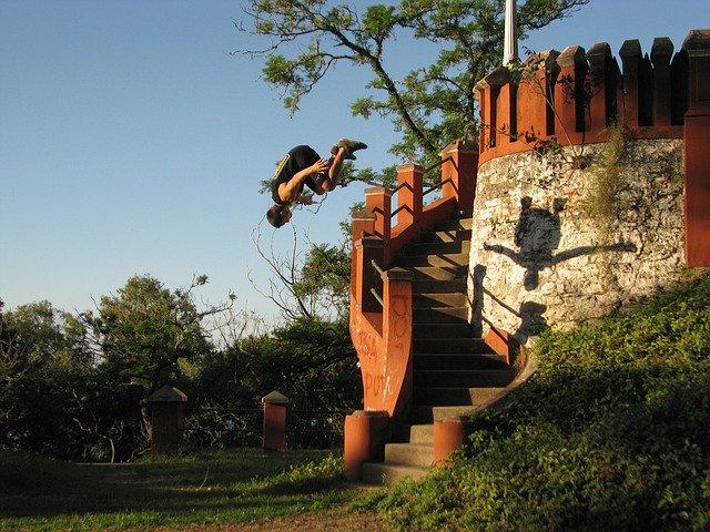 skok ze schodů