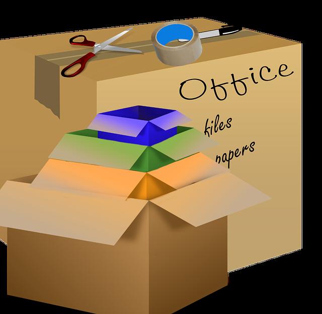 popisování krabic