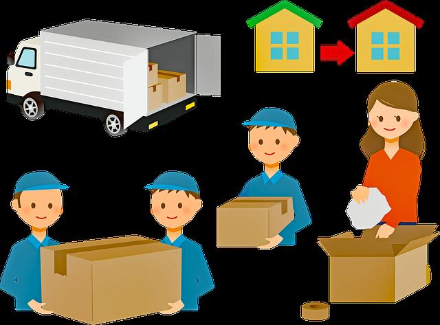 balení a stěhování