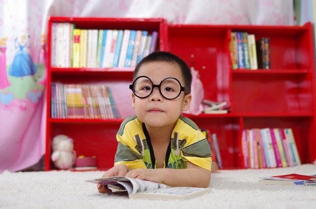 chlapec s knížkou